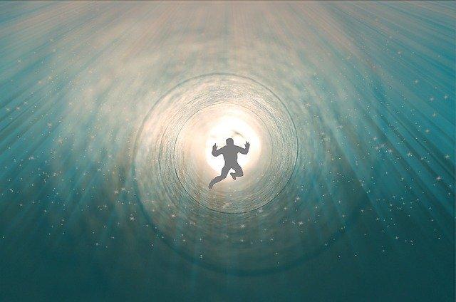 Duše letící do světla